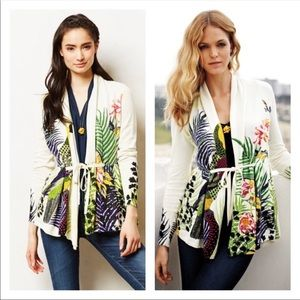 Anthro Moth Discovered Garden Floral Cardigan LG